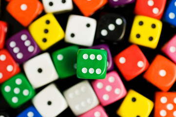 green six dice