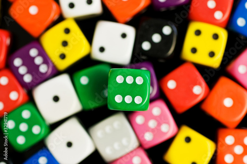 green six dice