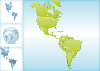 Weltkarte Landkarte Amerika Nordamerika Südamerika Karte 2