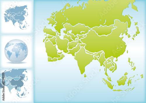 Weltkugel Weltkarte Landkarte Asien Karte 2