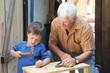 Basteln mit dem Opa