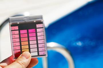 Chlorgehalt und PH-Wert Prüfung in Pool Wasser