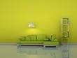 Wohndesign - grünes Sofa