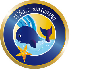 Whale watching button