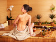 Bamboo massage at spa .