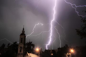 Lightning and church