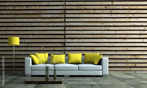 modernes wohnzimmer mit holzwand von virtua73 lizenzfreies foto 32947557 auf. Black Bedroom Furniture Sets. Home Design Ideas