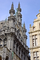 Architecture of Brussels. Ancient houses in the town