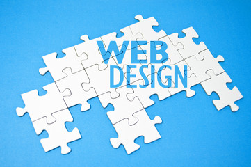 Puzzle mit Webdesign