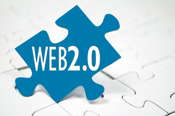 Puzzleteil mit Web 2.0