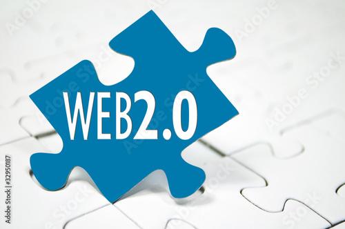 Puzzleteil mit Web 2.0 - 32950187