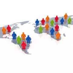 Global Player - Geschäftspartner und Business