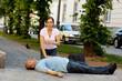 Herzmassage. Erste Hilfe bei Herzinfarkt