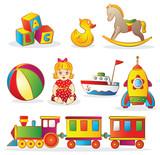 Fototapety Set of Children's Toys