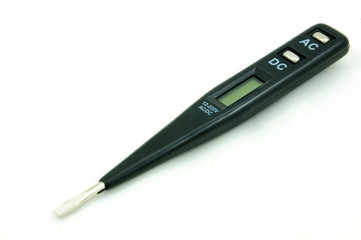Electrical tester isolated on the white background