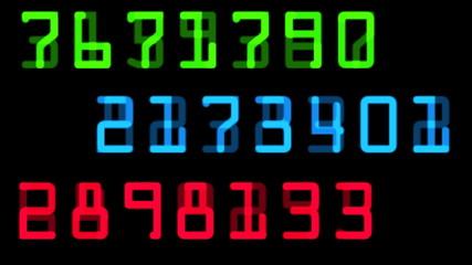 random numbers in color