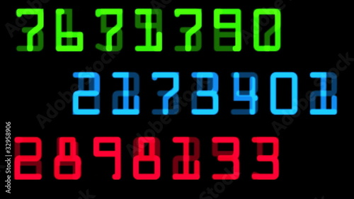 random numbers in color