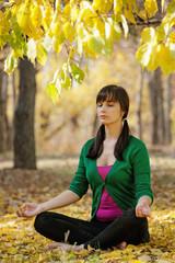 beautiful girl with  yoga