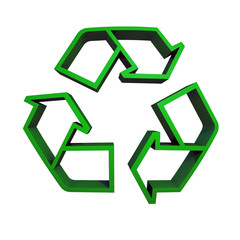 Recycling Logo Grün 3D