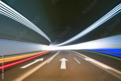Leinwanddruck Bild tunnel background