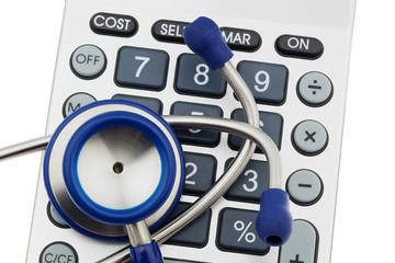 Taschenrechner und Stethoskop