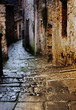 tuscan alley at night
