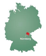 Nürnberg Geografie Karte