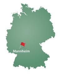 Mannheim Markierung Deutschland