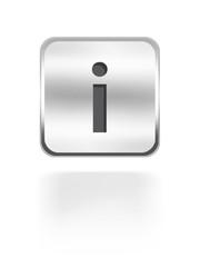Information Button silver aqua