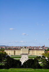 panoramic view over castle schönbrunn
