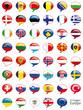 Europa Flaggen Fahnen Set Buttons Icons Sprechblase 1