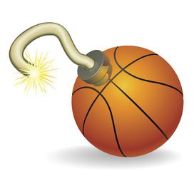 Basketball countdown illustration