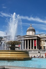 Londra, trafalgar square e la national gallery