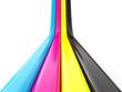 CMYK concept 3d render illustration