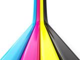 Fototapety CMYK concept 3d render illustration