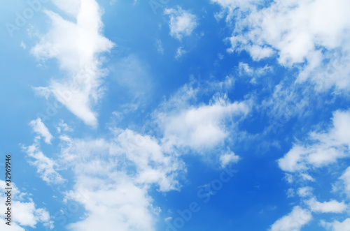 Beautiful blue sky with white clouds - 32969946