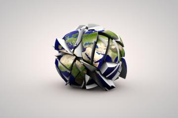 Kaputte Erde 3D