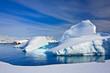 Leinwandbild Motiv Icebergs in Antarctica