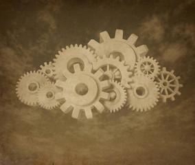 cloud computing vintage symbol