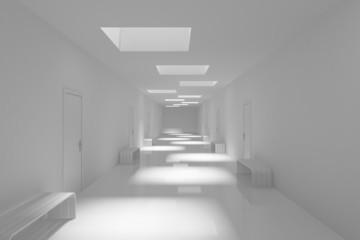 Modern white hall