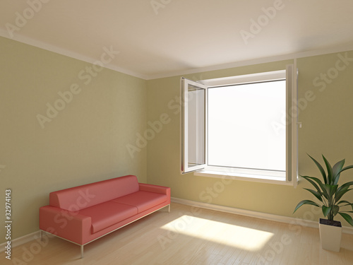 Open window in room