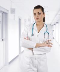 brunette doctor