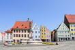 Leinwanddruck Bild - Landsberg am Lech Marienbrunnen