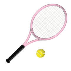 Raquette de tennis rose