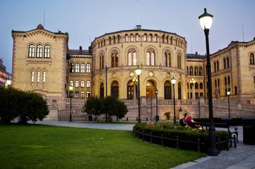 The Norwegian Parliament Building in Oslo