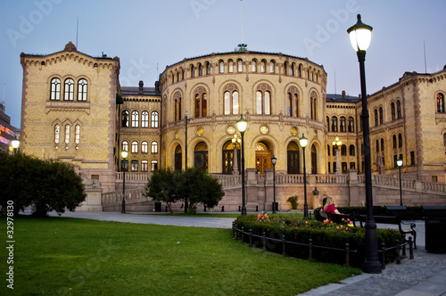 The Norwegian Parliament Building in Oslo