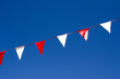 Small Flags of Bunting Hanging