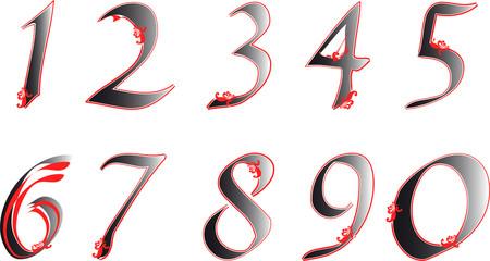 Cifre fiorite - Flowered digits