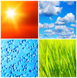 Nature backgrounds collage