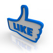 Thumb Up Symbol Icon for Like Review